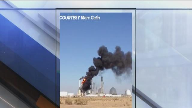 Fire at Shafter oil plant