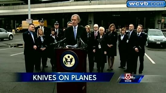 Markey rails against TSA's plan to let knives on planes