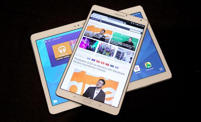 Up close and personal with Samsung's vibrant Galaxy Tab S