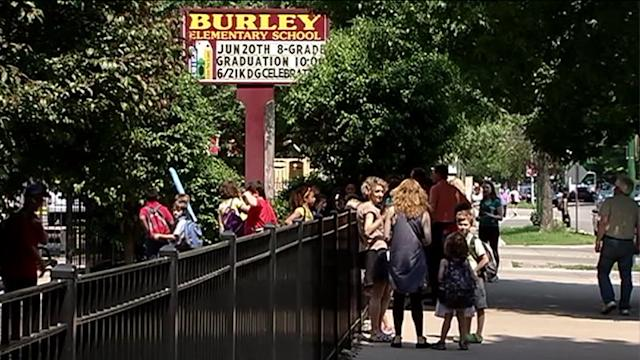 Parents protest cuts to Burley elementary school