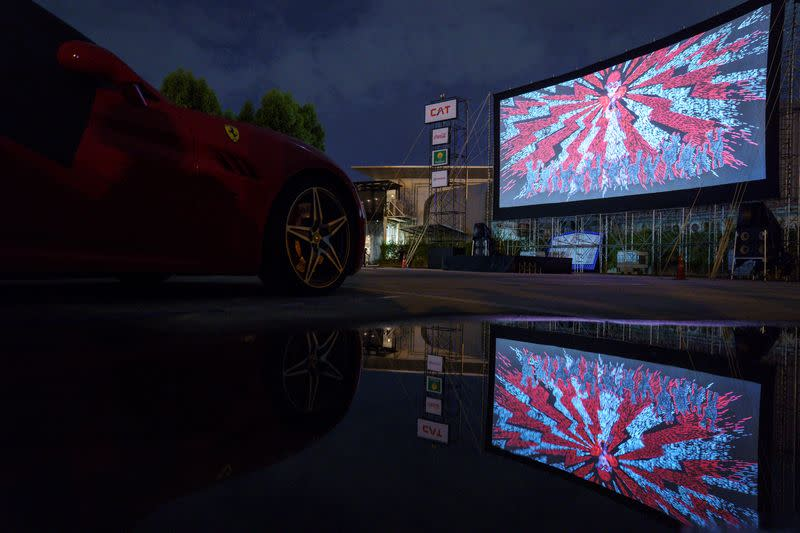 The first drive-in movie theatre amid the spread of the coronavirus (COVID-19) in Bangkok