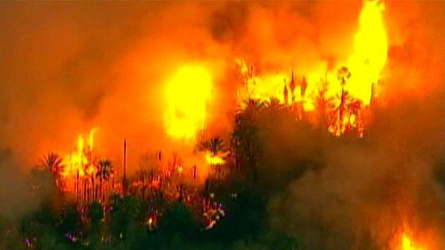 Dangerous wildfires burn out of control in California