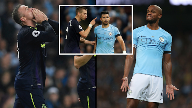 Man City held by Everton in stormy stalemate