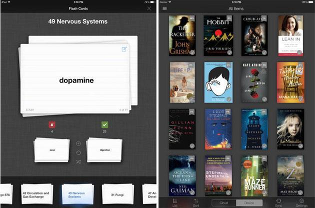 Kindle for iOS updated with flashcards, notebook filters and better search