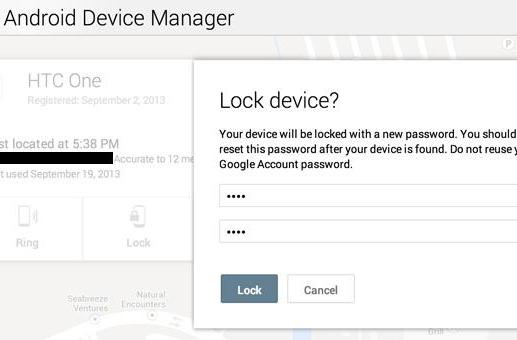 Android Device Manager scores remote locking feature