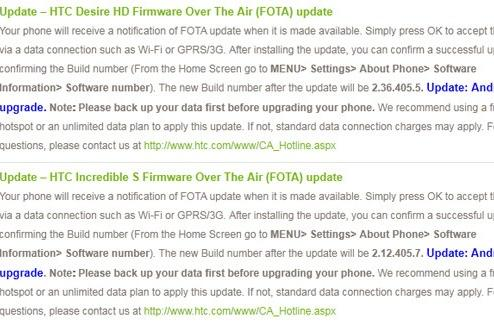 HTC starts OTA Gingerbread updates for Desire HD and Incredible S