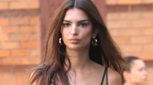 Emily Ratajkowski Slips Into a Silk Skirt & Crop Top With the Perfect Summer Sandal
