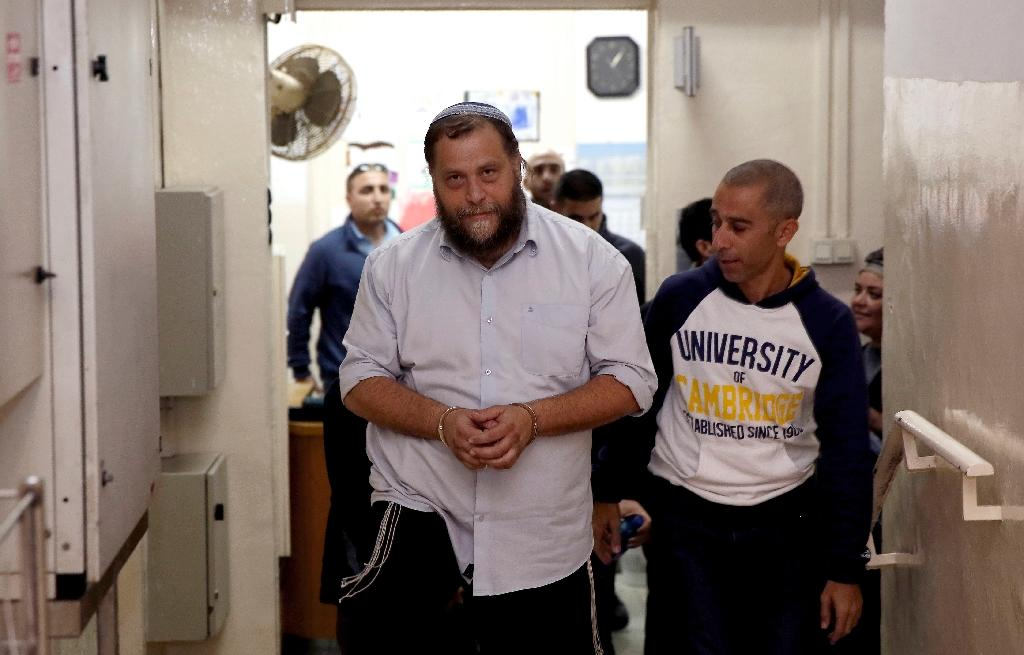 Benzi Gopstein, who leads far-right group Lehava, has not been linked to any recent attacks, but his comments regarding churches came at a time of heightened sensitivity over Jewish extremism and drew outrage from Catholic officials (AFP Photo/Gali Tibbon)