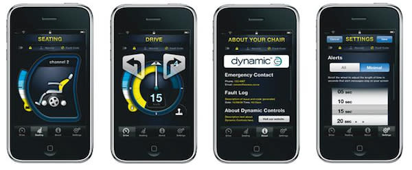 Dynamic Controls unveils integrated iPhone app for wheelchair controls