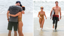 Chris Hemsworth and Elsa Pataky's cute PDA on the beach