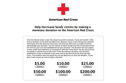 You can now use iTunes to support Hurricane Sandy relief