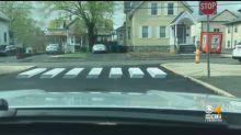'3D crosswalk' is 4th graders' idea to slow down cars