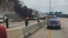 DC Bridge Shut Down After Multi-Vehicle Collision and Fire