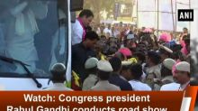 Watch: Congress president Rahul Gandhi conducts road show in Vijayapura