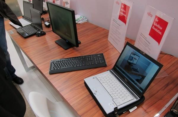 Fujitsu and partners show off cord-free display using SUPA wireless power (video)
