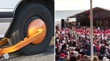'Grinch' landlord clamps cars during beachside Christmas carols