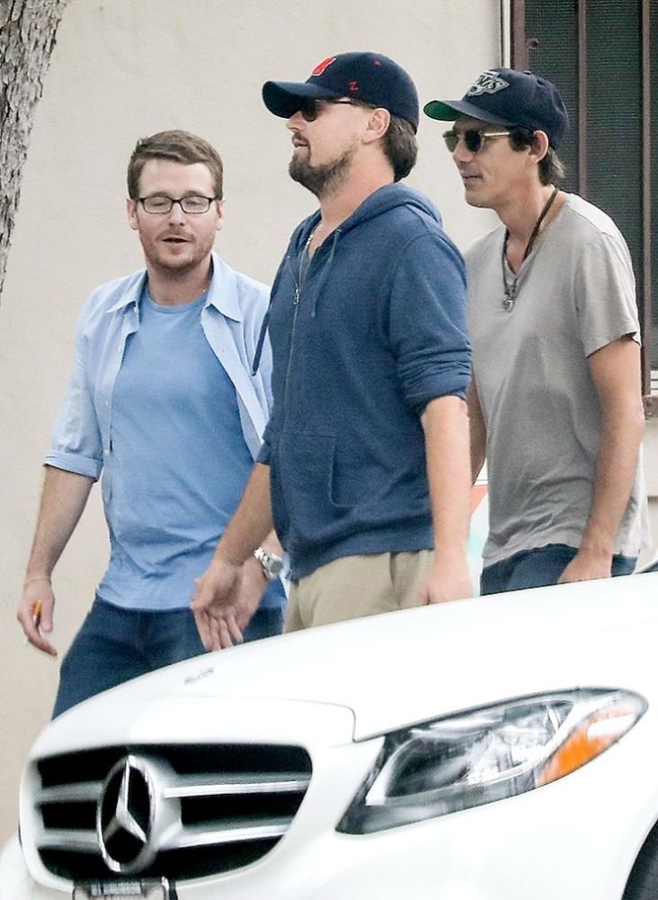Leonardo DiCaprio, Kevin Connolly, and Lukas Haas attend Ruby Maguire's play. (Photo: SPOT/BACKGRID)