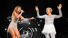 Ellen DeGeneres Dressed Like Taylor Swift in a Sparkly Onesie & Tinsel Tutu