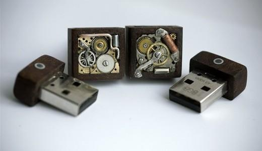 Steampunk USB cufflinks are as awesome as they are pricey