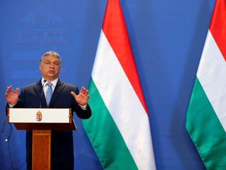 Hungarian Prime Minister Orban attends a news conference in Budapest