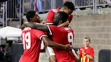 Lukaku on target as United see off City in Houston