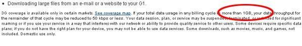 T-Mobile soft capping 3G data at 1GB per month