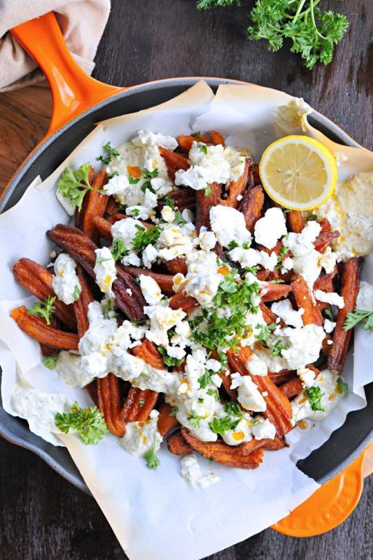 These Sweet Potato Fries Are Like if Poutine Went to Greece