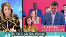 """La reacción espontánea de Susana Díaz cuando Ana Rosa le ha dicho que """"tiene los días contados"""" si gana Sánchez"""