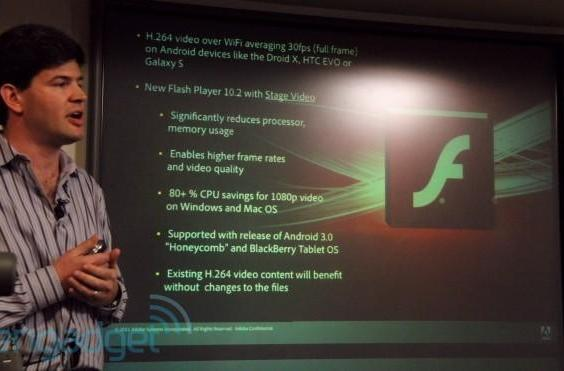 Adobe says Flash 10.2 coming to handsets soon, offers roundabout confirmation of Honeycomb for smartphones