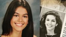 Who's who? Cindy Crawford and daughter Kaia Gerber are lookalikes in yearbook photos
