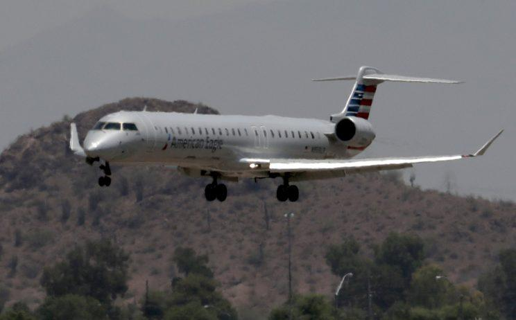 American Airlines cancels flight due to heat.