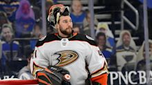 Anaheim Ducks' Anthony Stolarz Climbs Out of Taxi Squad