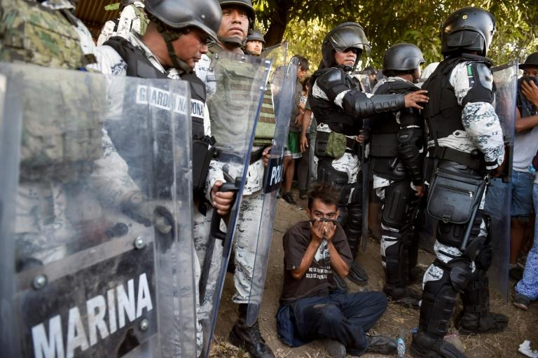 Mexican security forces detain 800 migrants