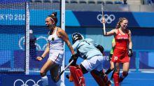Britain go down in women's hockey opener amid video referral farce