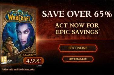 WoW and Burning Crusade on sale at EU store for 4.99€ each