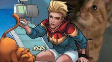 《Captain Marvel》預告小彩蛋!MARVEL隊長隻貓都有料到?