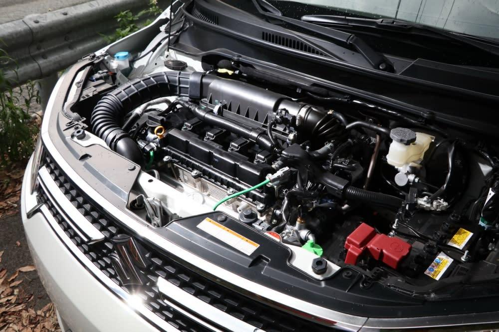 動力心臟搭載1.2L DUALJET直四自然進氣引擎,最大輸出為91hp/12.2kgm