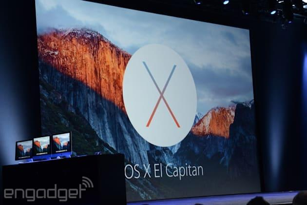Apple unveils OS X El Capitan, which is all about experience upgrades
