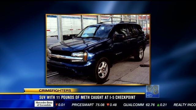 Third major meth bust this week made at I-5 checkpoint