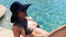 Lisa Rinna is '55 and shameless' in tiny animal print bikini