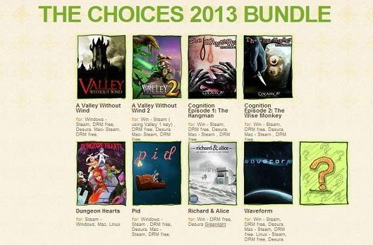 Indie Royale Choices 2013 bundle includes A Valley Without Wind, Cognition