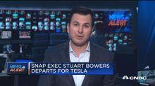 Snap exec Stuart Bowers leaves for Tesla