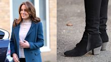Kate Middleton's laid back look featured $465 weather-resistant ankle booties