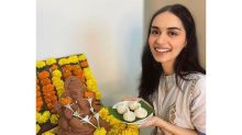 Manushi Chhillar Is Thrilled To Keep Ganpati At Home For The First Time!