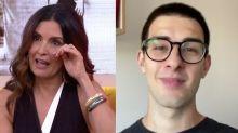 Fátima Bernardes chora com homenagem surpresa do filho no 'Encontro'
