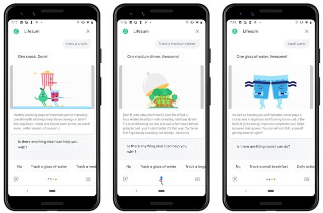 Food tracking comes to Google Assistant with Lifesum