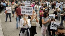 Protesters say localised lockdowns in Madrid discriminate against poor