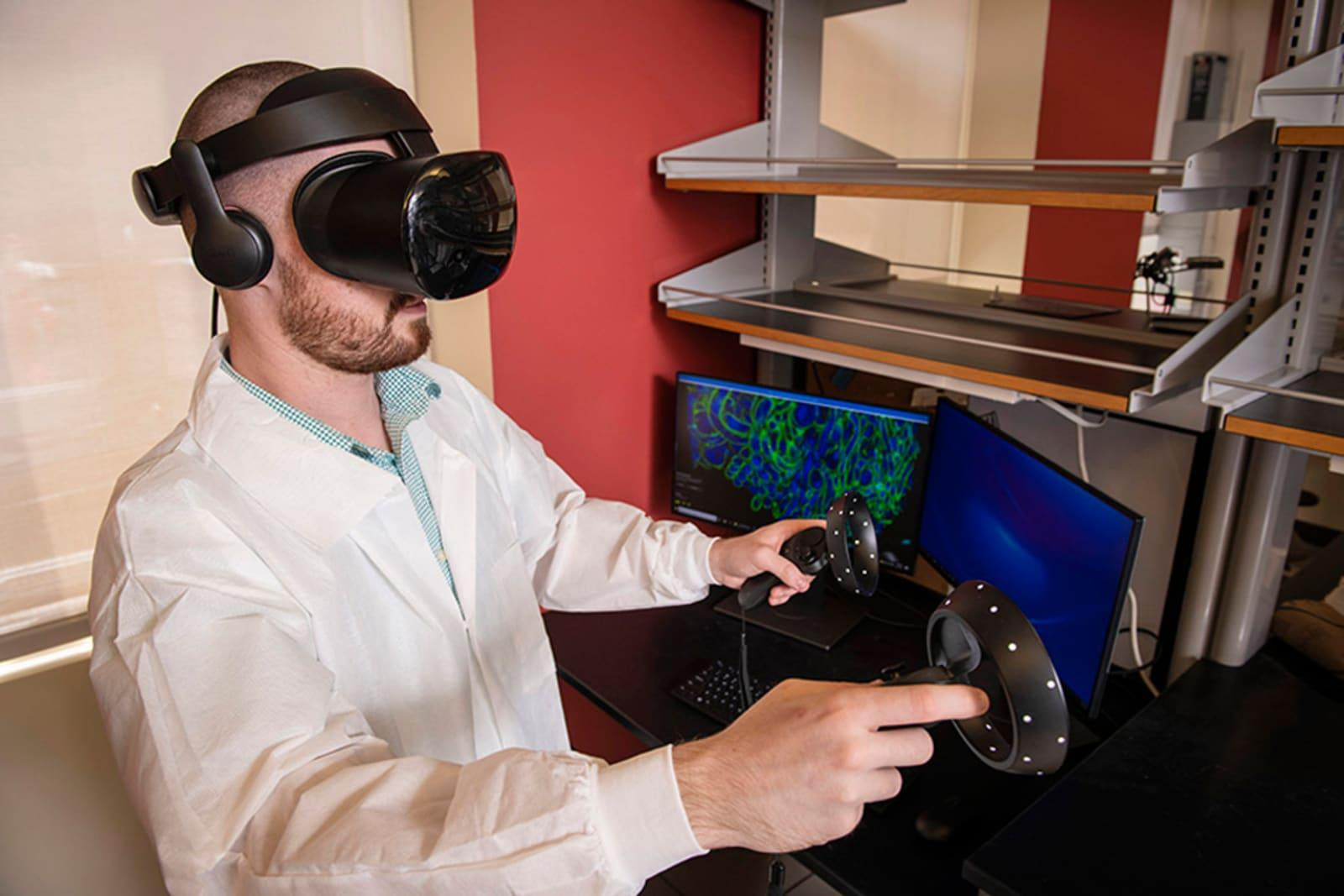 VR and microscopy help scientists see 'inside' diseases | Engadget