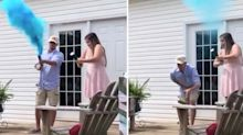 Gender reveal spectacularly backfires for expecting couple