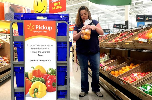 Walmart's online grocery shopping service will now accept EBT